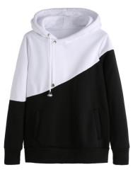 SheIn Women's Color Block Hooded Sweatshirt $17