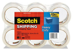 Scotch Heavy-Duty Shipping Tape 6-Roll Pack $10
