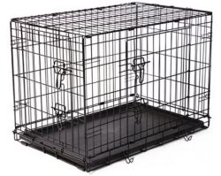 "Frisco Fold & Carry 30"" Double Door Dog Crate $24"