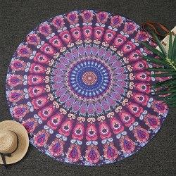 Mandala Print Round Beach Throw for $5 + free shipping