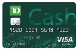 TD Cash Visa(R) Credit Card: $200 cash back