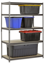 Muscle Rack 5-Shelf Steel Shelving for $50