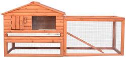 """PawHut 62"""" Wooden Rabbit Hutch / Chicken Coop"""