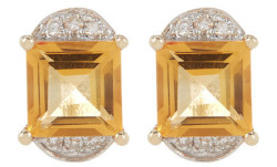 Ron Hami 14K Gold Diamond Stud Earrings $180