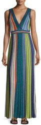 M Missoni Women's Metallic Striped Maxi Dress $656