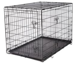 "Frisco Fold & Carry 42"" Double Door Dog Crate $50"