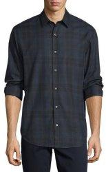 Vince Men's Plaid Flannel Sport Shirt for $157