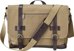 "Platinum Canvas 16"" Laptop Messenger Bag for $16"