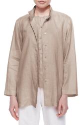 Go Silk Women's Linen Button-Front Jacket for $59