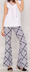 Nasty Gal Women's By and By Flare Pants for $19