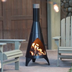 Red Ember Alto Steel Chiminea for $80