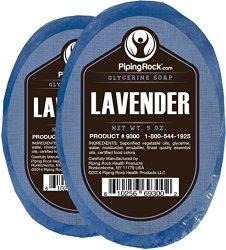 2 Piping Rock Lavender Glycerine Soap Bars for $3