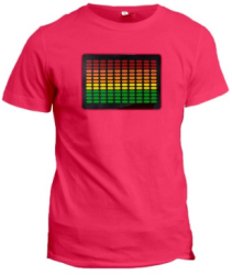 Unisex Sound-Activated LED T-Shirt for $9