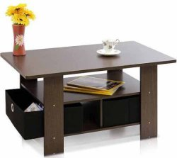 Furinno Coffee Table w/ Foldable Bin Drawer for $23 + pickup at Walmart