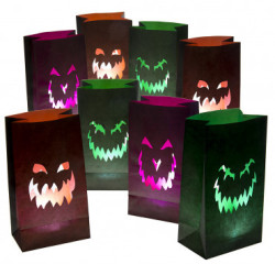 Jack O' Lantern Luminary Bags 16-Pack for $7