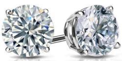 0.5-tcw Natural Diamond Earrings in 14K Gold $200