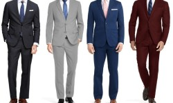 Men's Slim Fit 2-Piece Suit for $40