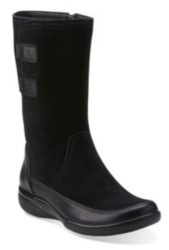 Clarks Women's Kearns Flash Leather Boots for $50