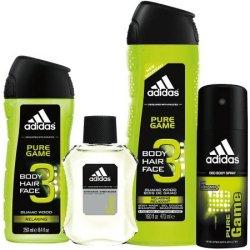 adidas Men's Pure Game 4-Piece Bath Gift Set