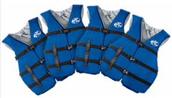 Bass Pro Shops Adult Life Vest 4-Pack for $40