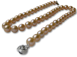 10mm AAA Pink Freshwater Pearl Necklace for $38