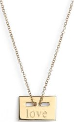 Ginette NY Mini Love Plate Necklace $241