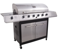 Char-Broil 6-Burner Gas Grill w/ Side Burner $260