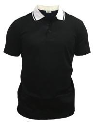 Men's 2-Tone Polo Shirt for $9