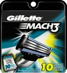 Gillette Men's Mach3 Razor Refill 10-Pack for $7 + free shipping