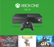 Xbox One 1TB Holiday Value Bundle w/ 3 Games