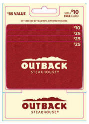 Outback Steakhouse $85 Gift Card Multipack