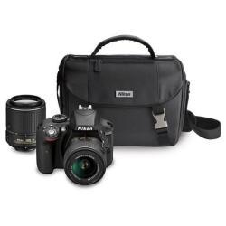 Nikon D3300 24MP DSLR Camera Bundle w/ Lenses & Bag + WiFi Adapter