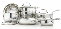 Belgique 11-Pc. Cookware Set in Stainless Steel