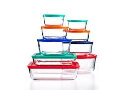Pyrex 18-Pc. Storage Set w/ Plastic Lids