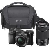 Sony Alpha a6000 Mirrorless Camera w/ 16-50mm & 55-210mm Camera Lens + 32GB Card