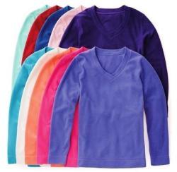 Made For Life Misses' & Petites' V-Neck Brushed Fleece Pullover