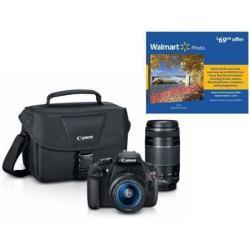Canon Rebel T5 18MP DSLR Bundle w/ 2 Lenses & Bag + $69.99 Photo Coupon