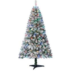 Holiday Time 6-Ft. Alpine Flocked Fir Pre-Lit Christmas Tree