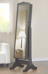 "Full-Length 61.5"" Mirror w/ Jewelry Storage"
