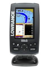 Lowrance Elite 4 Chirp Fishfinder/Chartplotter w/ Lake Insight Pro Cartography + Suncover & Map Card