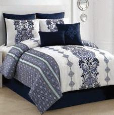 Victoria Classic Twilight Comforter Set in King or Queen