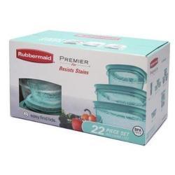 Rubbermaid Premier 22-Pc. Stain-Resistant Food Storage Set