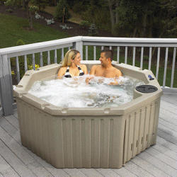 Celestial Spas Hydra 4-5 Person 11-Jet Resin Spa in Grey Granite or Cobblestone