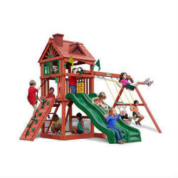 Gorilla Playsets Red Racer Swing Set