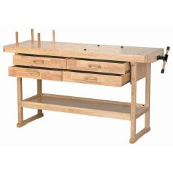 "Windsor Design 60"" 4-Drawer Hardwood Workbench"
