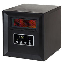 Life Pro 4 Element Infrared Heater in Black