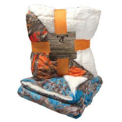 True Timber Camo Plush Sherpa Throw