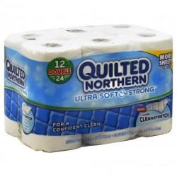 2 Quilted Northern Bathroom Tissue 12-Pk. + 200 Plenti Points