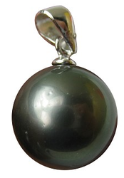 12.5mm AAA Black Tahitian Pearl Pendant for $95