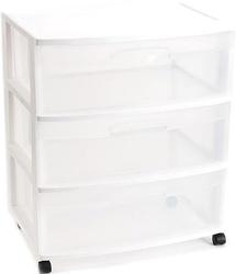Sterilite 3-Drawer Wide Cart for $15 + pickup at Walmart